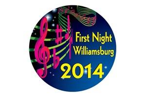 First Night Button 2014, Rolf Kramer, Real Estate Buyers Agent, Williamsburg, VA