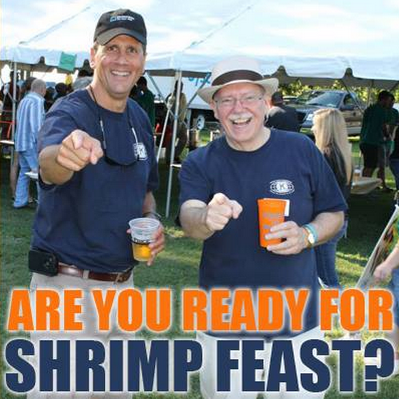 Win a pair of Free tickets Kiwanis Club of Williamsburg's Shrimp Feast Fundraiser