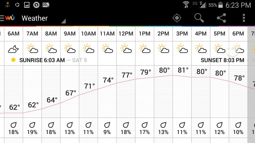 Saturday's Weather in Williamsburg - Rolf Kramer