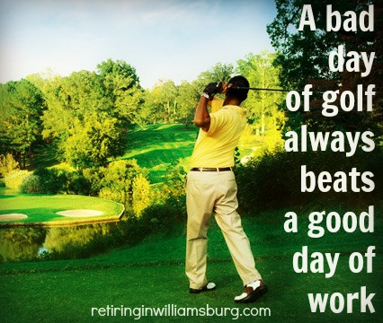 A bad day of golf - Rolf Kramer Real Estate Agent
