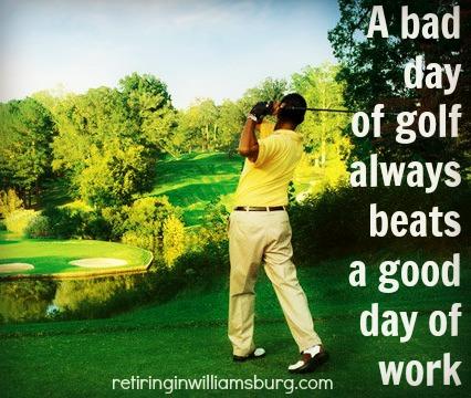 A bad day of golf - Rolf Kramer Real Estate Agent